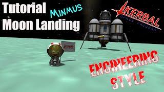 Kerbal Space Program - Tutorial Moon Landing Engineering Style