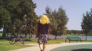Crossdresser Maxine - Blond Babe in the Park