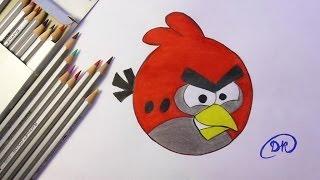 Как нарисовать птичку Angry bird  How to draw Angry bird  drawing lesson(Хочу предложить вам видео урок по рисованию цветными карандашами. Смотрите пожалуйста моё видео, надеюсь..., 2014-04-05T09:56:15.000Z)