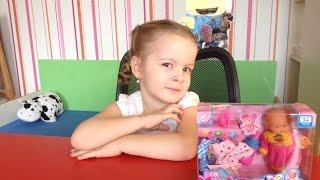 Распаковка и обзор пупса.Кукла малыш.видео для детей.видео для девочек.одежда для пупсов