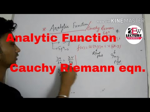 pt -1 cauchy riemann equations in hindi / analytic function in complex theory