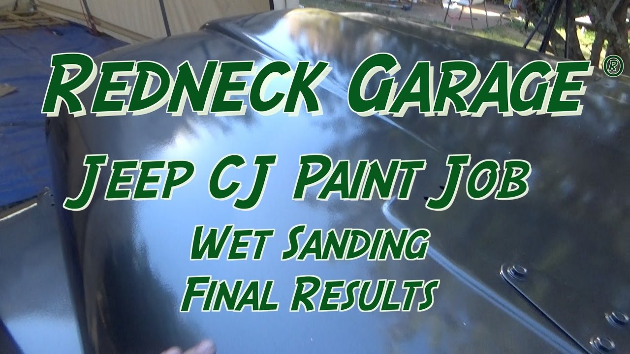 CJ Jeep Paint Job - Examine the Paint - Buffing The Hood (On the Pig)