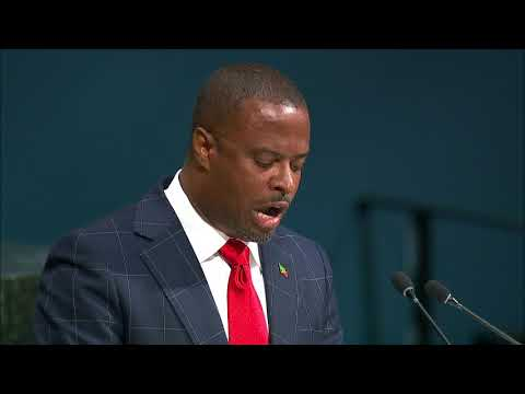 ST KITTS AND NEVIS - MINISTER FOR FOREIGN AFFAIRS HON. MARK BRANTLEY ADDRESSES UNITED NATIONS