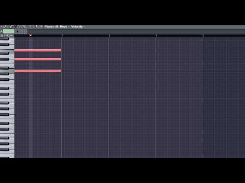 Tutorial: Fruity Loop Studios 8: Piano Roll Tips: Chords - YouTube