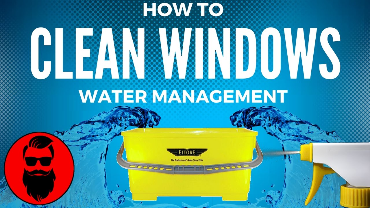 How To Clean Windows Professionally Water Management