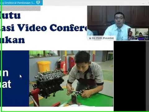 Video Conference Tentang minat dan Bakat dengan Direktorat Pembina SMK