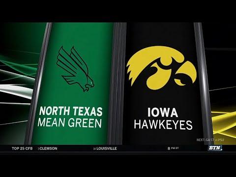 North Texas at Iowa - Football Highlights