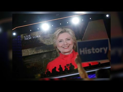 """Biggest Crack in Glass Ceiling Yet"": Clinton Becomes First Female Major-Party Presidential Nominee"