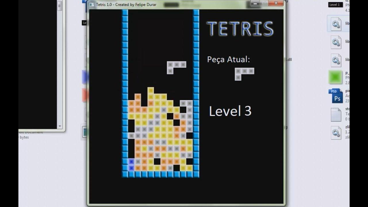 Criando O Jogo Tetris Em C    Creating A Tetris Game In C
