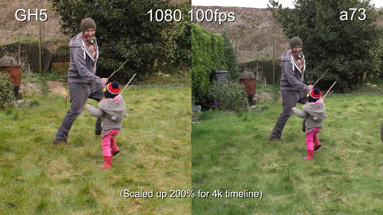 Sony a73 vs  Panasonic GH5 - Slow-Motion and Dynamic range tests