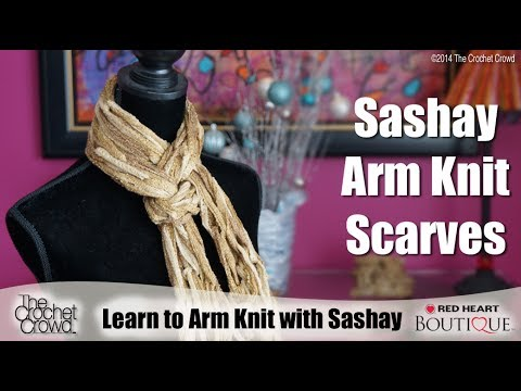 How To Arm Knit With Sashay Youtube