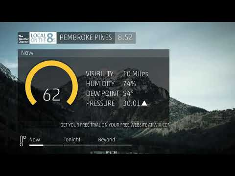 The Weather Channel - Local on the 8s - Pembroke Pines, Florida - 12/4/2019