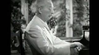 """Paderewski plays """"Menuet"""" in G - 1937 movie"""