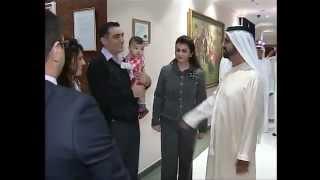 زيارة الشيخ محمد بن راشد لمستشفى الاكاديمية الامريكية