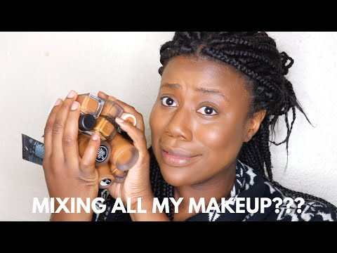 MIXING ALL OF MY FOUNDATIONS & CONCEALERS | South African Beauty Blogger thumbnail