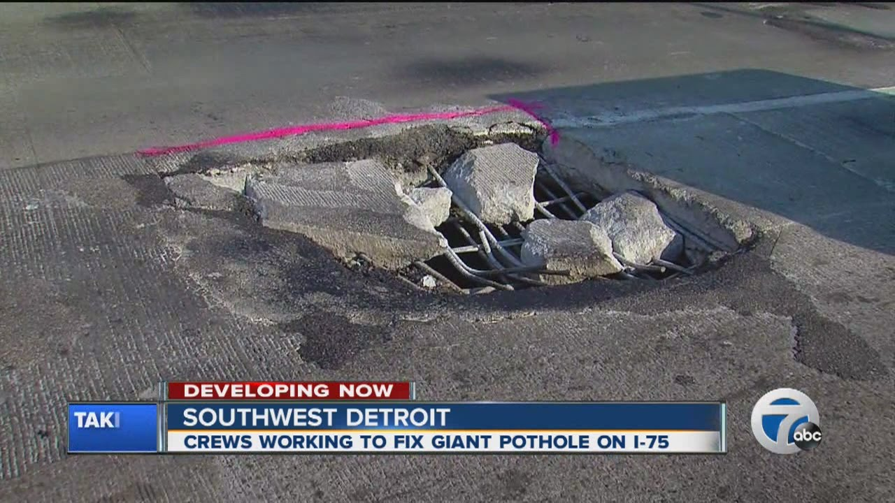 Giant Pothole On I 75