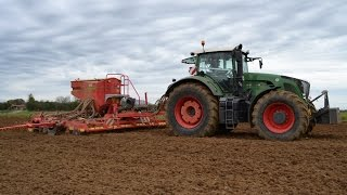 Gaec Gautrot: Semis de blé : Fendt 936 Vario & Väderstad Rapid A600S [HD]