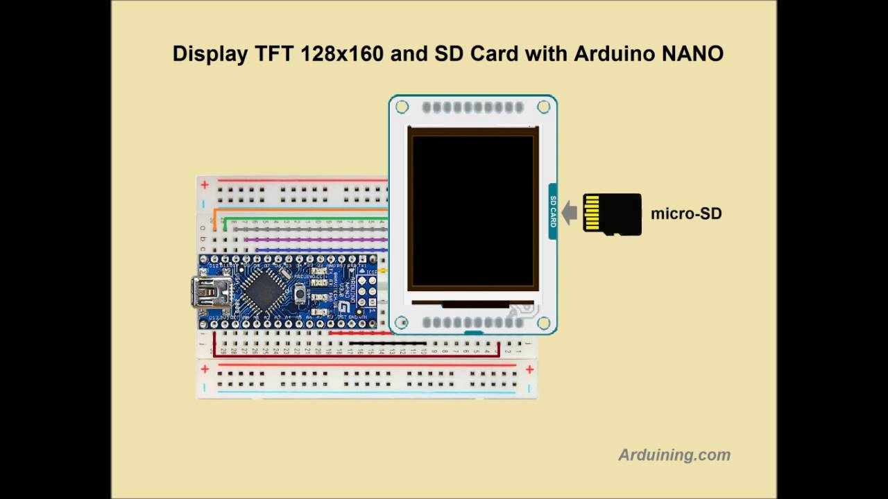 Wiring Tft Display To Arduino Nano Youtube Sd Card
