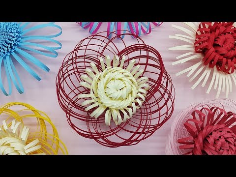 Giant Paper Flowers Fluffy Center Making Tutorial | Paper Craft