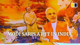Modi-themed saris are a hit ahead of Indian general elections