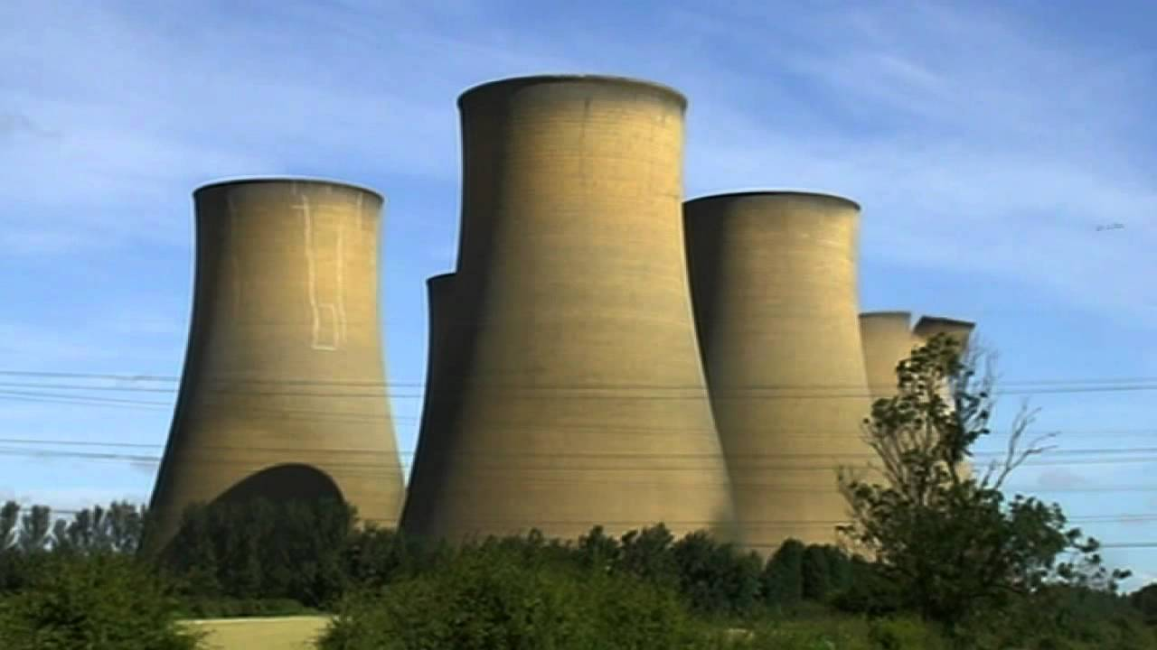 Cooling Tower Demolition : Five cooling towers demolished at high marnham power