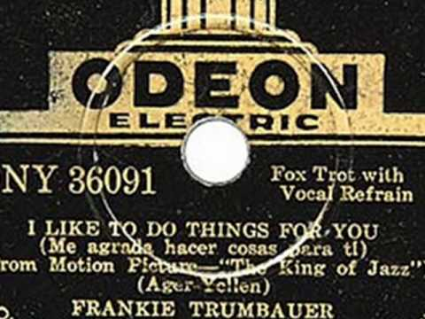 Mildred Bailey & Frank Trumbauer - I Like To Do Things For You, 1930