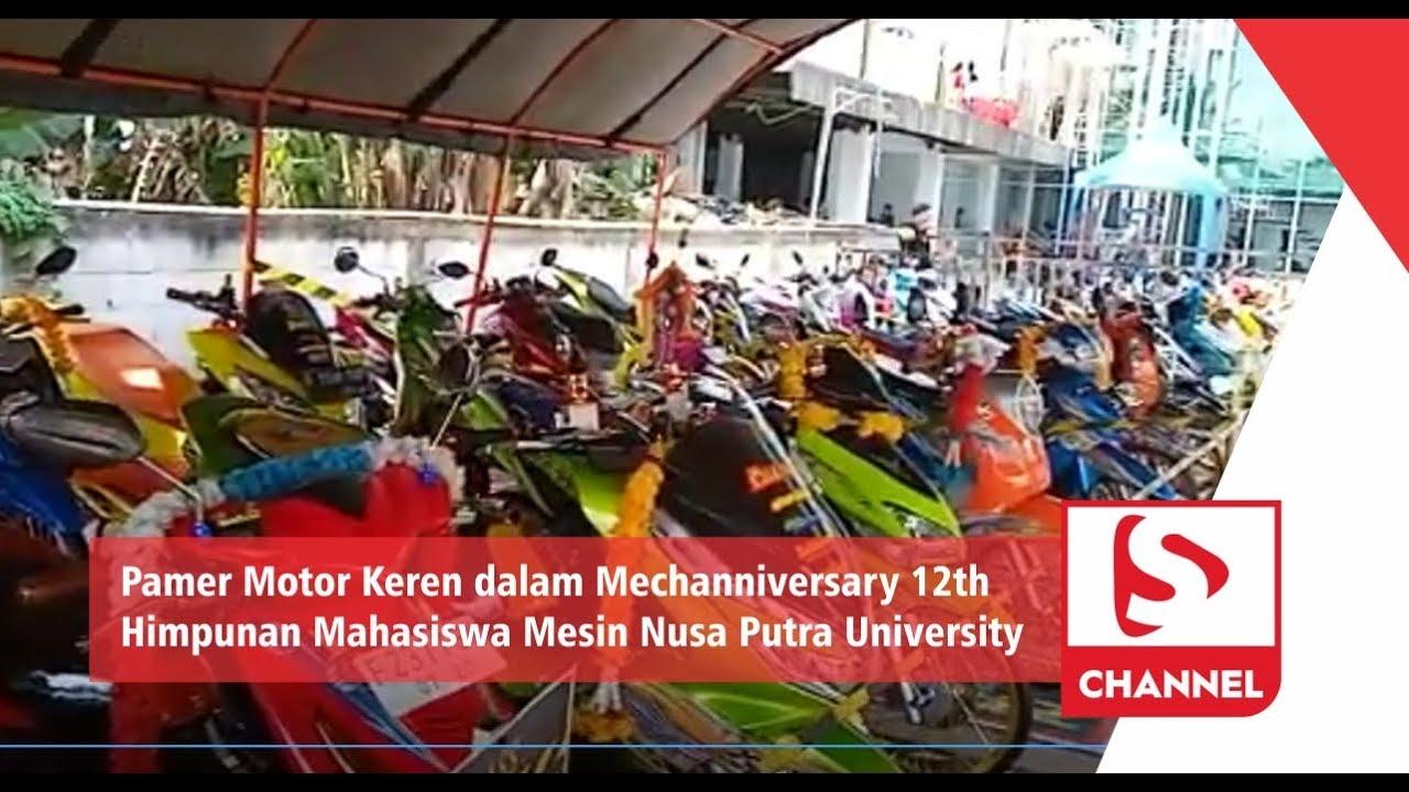 Pamer Motor Keren dalam Mechanniversary 12th Himpunan Mahasiswa Mesin Nusa  Putra University