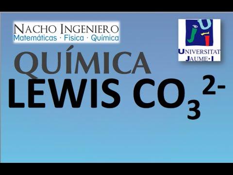 Estructura Lewis CO32-