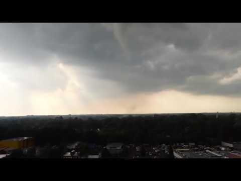 Dramatic Funnel Cloud Over Hamburg, Germany
