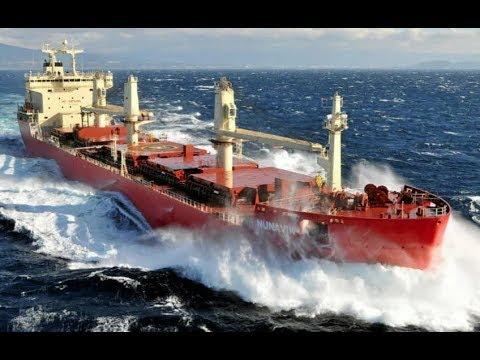 Top 10 Bulk carrier Ships In Storm! Biggest Waves