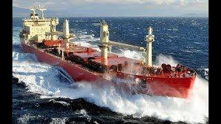 Top 10 Bulk carrier Ships In Storm! Biggest Waves