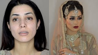 Modern Asian Bridal hair makeup tutorial - product list - Salma Akhtar MUA Mehndi Wedding Nikkah