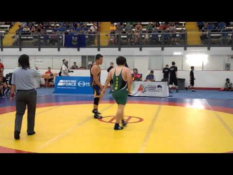 2015 Western Canada Summer Games: 85 kg Hunter Smith (AB) vs. Hayden LaFontaine (SK)