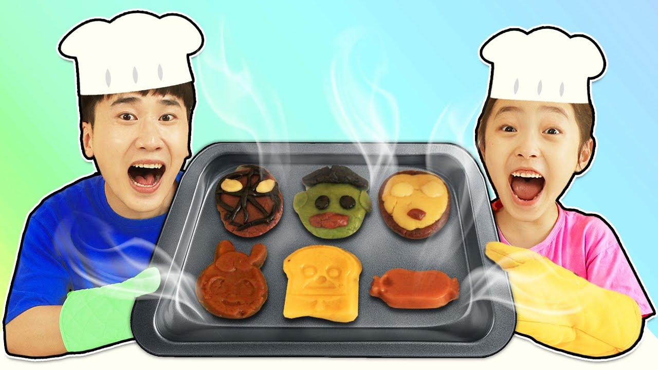 토이쿠키로 브레드이발소 슈퍼히어로 쿠키 만들어요!! 브레드 이발소 캐릭터 쿠키 슈퍼히어로 쿠키 Making Toy Cookie 슈슈토이 Shushu ToysReview
