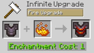 Minecraft but you can infinitely upgrade armor...