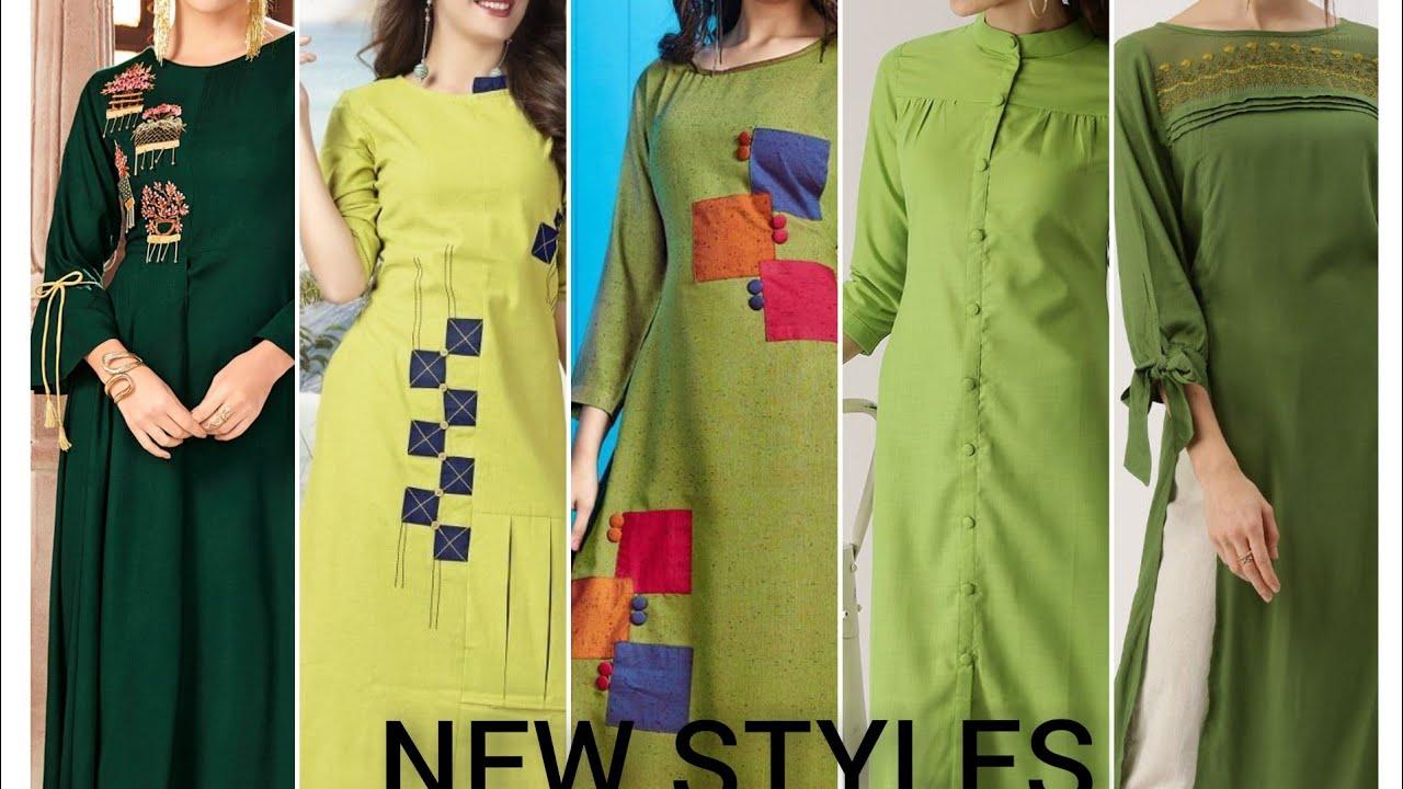 New Style Green Color Kurtis | Eid Style Green Color Dresses | New Trending Green Kurtis