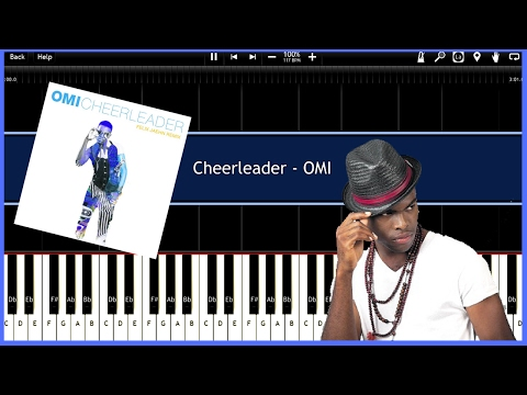 Cheerleader - OMI (Felix Jaehn Remix) (Synthesia) [Tutorial] [Instrumental Video] [Download]