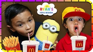 I MAILED MYSELF to Ryan ToysReview and it WORKED! It Gone WRONG to McDonalds 2 Skit