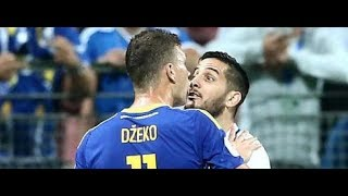 Bosnia vs Greece fight at the end of match - Dzeko vs Manolas