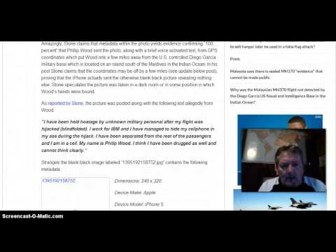 Hijacked Flight 370 Passenger Sent Photo & Text From Hidden IPhone 5