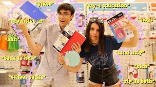 school supplies shopping vlog & haul *college vs. high school*