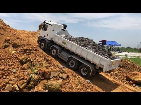 How to clean wash  1.14 Rc Excavator and rc truck | Rửa xe điều khiển từ xa