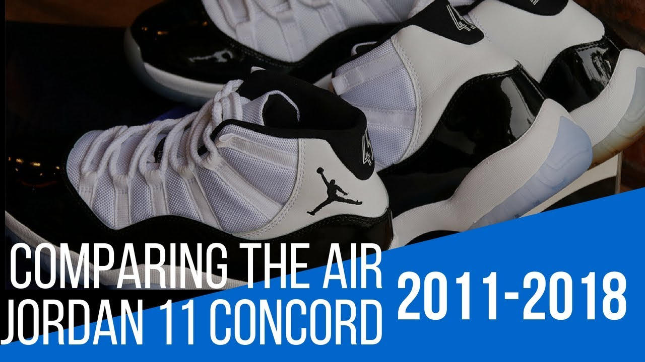 "6fbc63d48fdb4d Comparing The Air Jordan 11 ""Concord"" From 2011 And 2018 - YouTube"