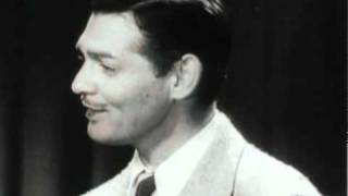 Clark Gable and Claudette Colbert at the 1935 Academy Awards Video