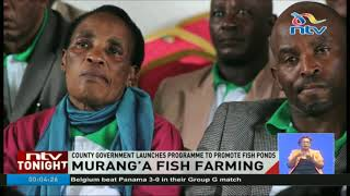 Murang'a county government launches programme to promote fish ponds