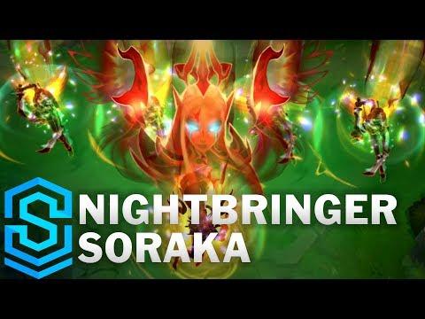 Nightbringer Soraka Skin Spotlight - League of Legends