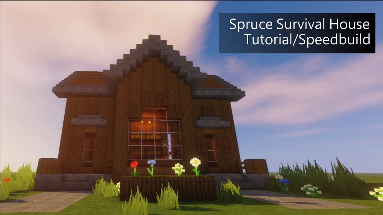 Spruce Survival House   Tutorial/Speedbuild [Minecraft ...