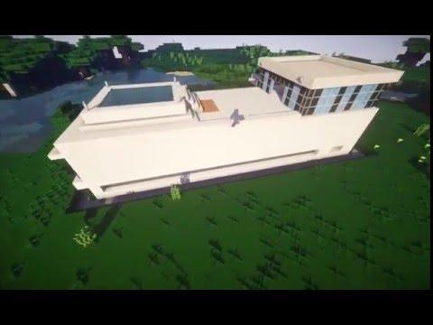 Minecraft Modernes HausMini Villa Roomtour YouTube - Minecraft redstone haus bauen tutorial deutsch