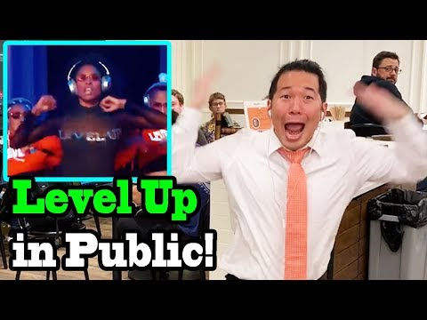 "CIARA - ""Level Up"" - LEVEL UP CHALLENGE IN PUBLIC"