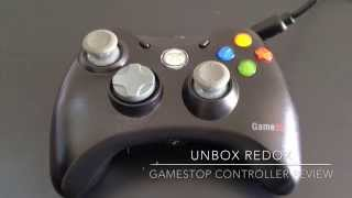 Gamestop Xbox 360 Wired Controlloer Short Review   Unbox Redox